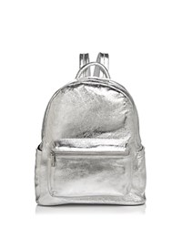 Aqua Leather Backpack 100 Exclusive Silver
