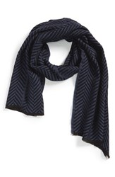 Men's The Kooples Herringbone Scarf Blue Navy