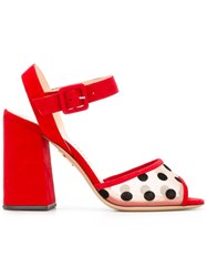 Charlotte Olympia Emma Sandals Red