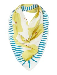 Radley Apples And Pears Silk Square Scarf Ivory
