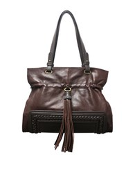 Sondra Roberts Leather Shoulder Bag Cognac