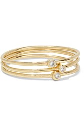 Jennifer Meyer Set Of Three 18 Karat Gold Diamond Rings 7