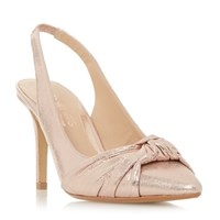 Head Over Heels Charlise Knot Detail Slingback Courts Rose Gold