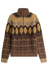 Etro Zipped Cardigan With Wool Mohair And Angora Multicolor