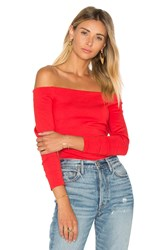 L'agence Cynthia Off Shoulder Top Red