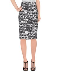 Andrea Incontri Knee Length Skirts Black
