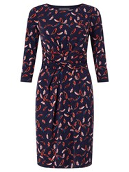 Adrianna Papell Feather Print Dress Multi Coloured Multi Coloured