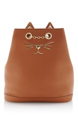 Charlotte Olympia Feline Backpack Brown