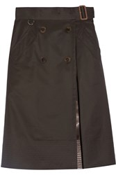 Sacai Belted Cotton Gabardine Skirt Army Green