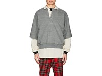 Fear Of God Cotton Blend Terry Oversized Polo Shirt Gray