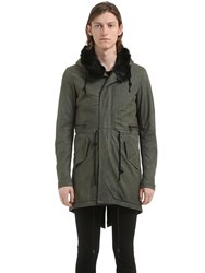 Giorgio Brato Long Hooded Leather Parka W Fur Lining