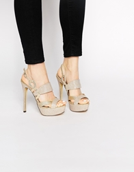 Little Mistress Platform Heeled Sandals Gold