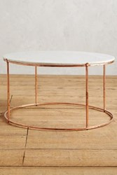 Anthropologie Leavenworth Marble Coffee Table Copper