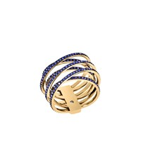 Michael Kors Pave Gold Tone Criss Cross Ring