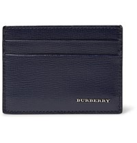 Burberry Cross Grain Leather Cardholder Blue