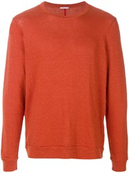 Homecore Classic Fitted Sweater Yellow And Orange