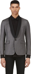Band Of Outsiders Grey Wool Striped Blazer