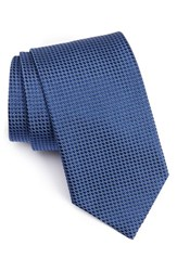 Eton Men's Microdot Silk Tie Medium Blue