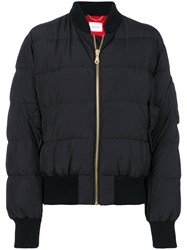 Magda Butrym Classic Puffer Jacket Silk Cotton Polyester Wool Black