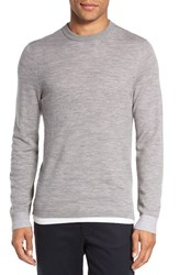 Vince Men's Crewneck Merino Wool Sweater Heather Steel