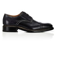 Harris Men's Cap Toe Bluchers Black