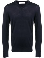 Cruciani Perfectly Fitted Sweater Blue