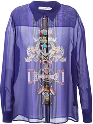 Mary Katrantzou 'Gala' Blouse Blue
