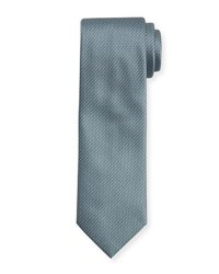Brioni Textured Dot Neat Silk Tie Light Blue