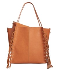 Inc International Concepts Venice Tote With Removable Pouch Only At Macy's Cognac