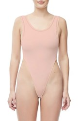Good American Body Khlo Thong Bodysuit Blush001