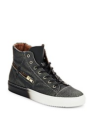 Bacco Bucci Teo Leather High Top Sneakers Black