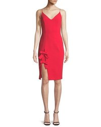 Black Halo Mystic Bow Detail Sleeveless Dress Chich Red