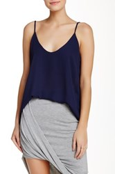 Lily White Solid Tank Blue