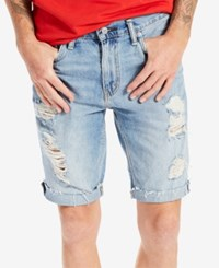 Levi's Men's 511 Slim Fit Cutoff Ripped Jean Shorts Hole In The Sky