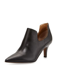 Kay Unger Jacinta Leather Pointed Toe Bootie Black
