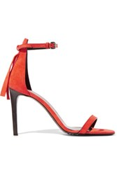 Mcq By Alexander Mcqueen Suede Pumps Orange