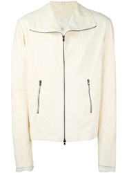 Lost And Found Ria Dunn Dislocated Zip Jacket White
