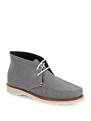 Eastland Checked Lace Up Chukka Boots Charcoal