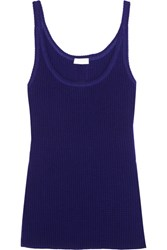 Eres Futile Waffle Knit Wool And Cashmere Blend Tank Storm Blue