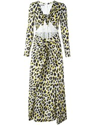 Moschino Leopard Print Maxi Dress Black