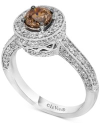 Le Vian Chocolatier Diamond Halo Ring 1 1 8 Ct. T.W. In 14K White Gold