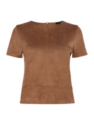 Therapy Suede Top Tan