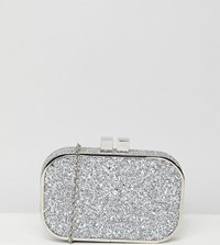 True Decadence Silver Glitter Embellished Clutch Gold Silver