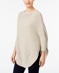 Styleandco. Style Co. Eyelash Poncho Sweater Only At Macy's Hammock Heather