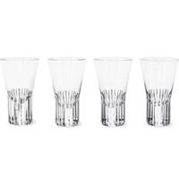 Tom Dixon Tank Set Of Four Striped Shot Glasses Silver