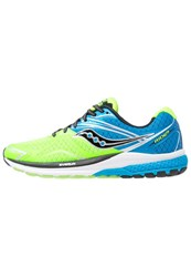 Saucony Ride 9 Cushioned Running Shoes Blau Lime Schwarz Green