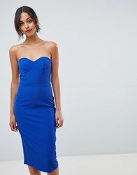 Oasis Halter Neck Tuelle Pencil Dress With Detachable Straps Blue