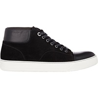 Leather Cap Toe Sneakers Black