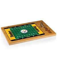 Picnic Time Pittsburgh Steelers Icon Cutting Board Black