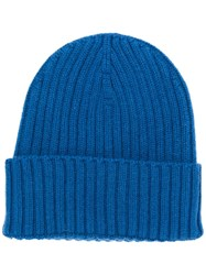 Dell'oglio Ribbed Knit Beanie Blue
